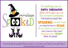 You've been SPOOKED!!  howdoesshe.com #halloweenprintables