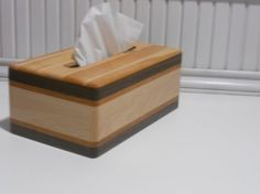 Wooden Tissue Box hand made all hardwood box by WOODNTHINGSBYFRANK, $22.50