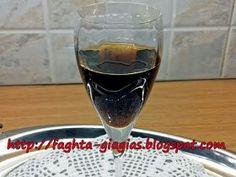 Τα φαγητά της γιαγιάς  Λικέρ Καρύδι Cookbook Recipes, Cooking Recipes, Pomegranate Liqueur, Red Wine, Smoothies, Alcoholic Drinks, Food And Drink, Glass, Cheers