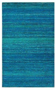 $5 Off when you share! Monaco Horizon Sari Silk Light Blue Rug