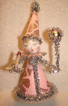vintage+christmas+tree+crafts | Vintage Craft Spun cotton Christmas ornament Feather Tree Yuletide ...