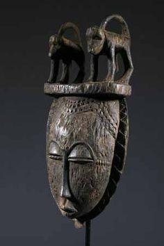 Le masque africain Yohoure une image de l'Afrique
