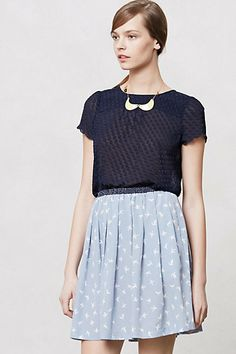 Solid Scalloped Blouse #anthropologie