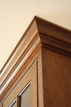 Cherry inset with crown molding