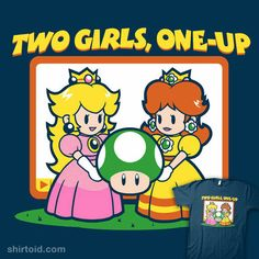 Two Girls, One-Up  The infamous Mushroom Kingdom video you can't unwatch! Daisy is into it, but Peach is just experimenting.