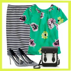 """""""Punk Floral Black and White"""" by mrsmcbrown on Polyvore"""