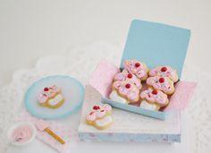 Sweet Petite Miniature Play Scale Cupcake by SweetPetiteShoppe