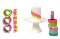 DIY Decor your candles with Washi Tape
