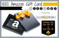 Ending soon!  Head on over to enter to win a $100 Amazon Gift Card