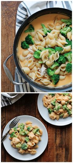 Chicken and Broccoli Shells and Cheese Recipe