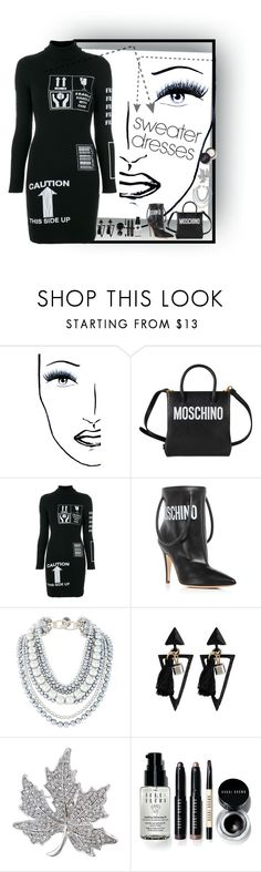 """""""Untitled #2012"""" by diananicoleparsons ❤ liked on Polyvore featuring Black Magic Lashes, Moschino and Bobbi Brown Cosmetics"""