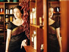 Indian Saree - Bollywood Actress Aishwarya Rai in Black Cotton Saree  For more pics please visit www.minmit.com