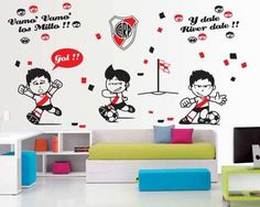 vinilos decorativos infantiles de futbol! diseños unicos!!!