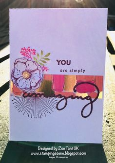 Stampin' Up! knows that we all know someone who is amazing in our eyes so they've given us this fabulous stamp set called Amazing You and a coordinating set of dies. The best part is that you can get