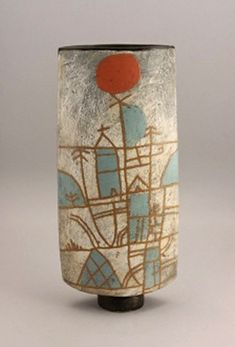 John Maltby (British, A tall Vessel, circa 1995 - Contemporary Ceramics - 20 - 24 November 2010 - Auction Atrium Slab Pottery, Ceramic Pottery, Pottery Art, Thrown Pottery, Pottery Studio, Ceramic Clay, Ceramic Vase, Pots, Ceramics Projects