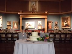 Intimate wedding and classic cake at Telfair Academy