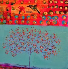 The Feather's Edge Finery is featuring a brand new Oregon artist: Flora Bowley. Art Journal Inspiration, Painting Inspiration, Flora Bowley, Art Walk, Art Journal Pages, Tree Art, Landscape Art, Art Pictures, Collage Art