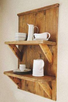 great reclaimed wood shelf