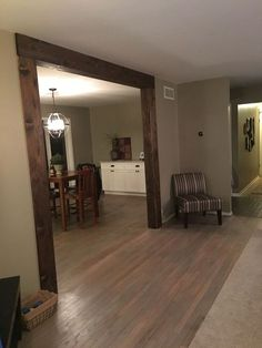 nice Cedar boards cut to make faux wood beams for where we opened up our wall. Love t...