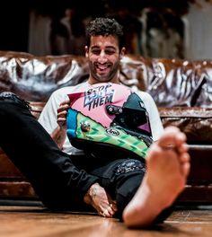 Daniel Ricciardo's new helmet. Ricciardo F1, Daniel Ricciardo, Vaporwave, Formula 1 Car Racing, Daniel Tattoo, New Helmet, Still I Rise, Honey Badger, F1 Drivers