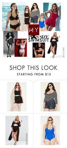 """""""My Size Swimsuit"""" by irena-monticelli on Polyvore featuring Forever 21, ASOS Curve, Lela Rose, stylishcurves and plussizeswimsuit"""