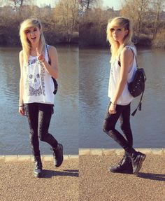 Give it to me .. all - skinnies, combat boots, over sized tank/tee