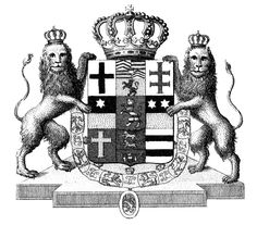 Vintage Royal Clip Art - Crest with Crown - The Graphics Fairy
