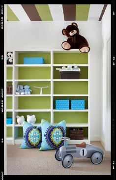 Creative Ceiling Ideas For Babies, Kids and Teen Rooms - Design Dazzle. Painted stripes on ceiling
