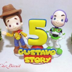 Apliques Toy Story no Bolo Toy Story, Festa Toy Story, Toy Story Party, Toy Store, Biscuits, Hello Kitty, Toys, Gabriel, Appetizers