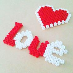 Love hama beads by pandkcrafts