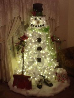 incoming search terms snowman christmas tree ideas snowman white tree