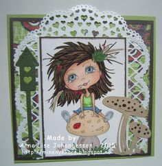 Mine Prosjekter: Girl with mushroom