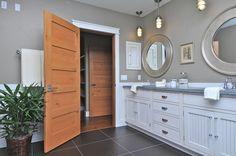 Image result for natural wood trim bathroom