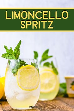Limoncello Spritz - Perfect Summer Cocktail - Sip and Feast The. - Limoncello Spritz – Perfect Summer Cocktail – Sip and Feast The Limoncello Spr - Limoncello Cocktails, Prosecco Drinks, Refreshing Cocktails, Easy Cocktails, Cocktail Drinks, Grapefruit Cocktail, Martinis, Drinks With Lemoncello, Cold Drinks