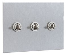 Stainless Steel Light Switches by FORBES & LOMAX