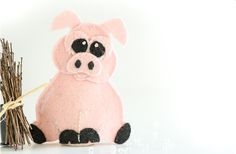 This little piggy went to market...  Use our lovely, detailed 3 little pigs finger puppet sewing pattern set to create your own keepsake finger puppets