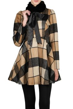 RYU Camel Black Cream Belted Checkered Boutique Coat Stand out of the Crowd.......Feel Beautiful in this classy and stunning must have boutique coat for this season! Ryu With passion for inspiration and design, Ryu: has been defining new boundaries in fashion since 2008. Ryu: mainly targets women who refuse ostentatious apparel, buy enjoy diverse fashion channels while promoting individuality. Known for its celebration for creativity, Ryu: introduces its unique interpretation of the modern…