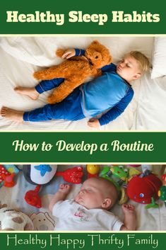 Healthy Sleep Habits in Babies and Toddlers. How to develop a routine. #sleep #babies #toddlers