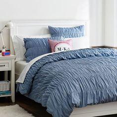 slate blue bedding from pb teen