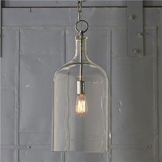 Glass Jug Lantern - contemporary - pendant lighting - Shades of Light
