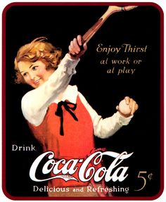 .An old great poster of #TheCocaColaBottlingCompany !!! ,,,
