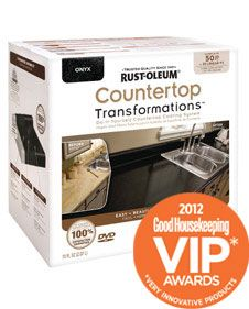Rustoleum Countertop Transformations gives laminate countertops the look of granite, available in 5 color options