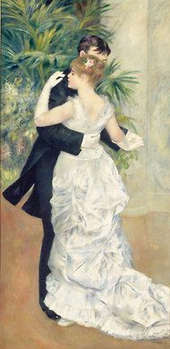 """Renoir's 1883 """"Dance in the City,"""" currently on view at the Frick in NYC"""