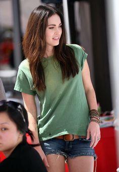 Siwy Camilla Cut Off Denim Shorts in Wonder - as seen on Megan Fox