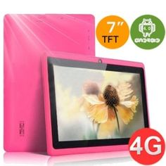 WolVol NEW (Android 4.0 - 1GB RAM) Ultra-Thin PINK 7inch Tablet PC Touch Screen at a price of $119.94    To place order visit : http://www.wolvol.com/android-tablet/pink-7inch-android-22-touch-screen-tablet-pc-wifi-and-built-in-camera-4gb-hd-google-android-market-screen-protector-pink-velvet-pouch-bag-case