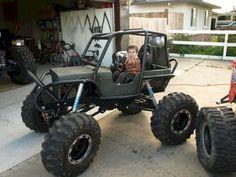 Kid Rock Crawler Kyren would love this! Kid Rock, Karting, Kids Jeep, Diy Go Kart, Offroader, Custom Jeep, Custom Bikes, Power Wheels, Buggy