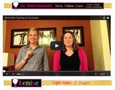 """This video will change the way you teach writing!  """"Air Punctuation"""" from Whole Brain Teaching =)"""
