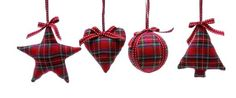 Tartan Christmas Decorations - £2.39 - A great range of Christmas gifts and homewares from The Contemporary Home Online Shop