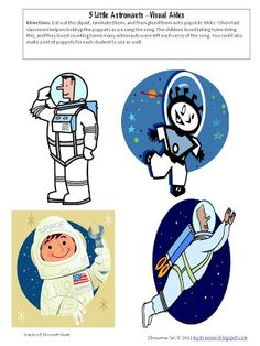 Learn and Grow Designs Website: Five Little Astronauts Song and All Things Wonderful Link Up