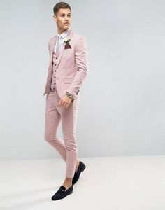 Tailor Made Pink Men wedding Suits Slim Fit Groom Prom Party Blazer Male Tuxedo Jacket Pants Vest Costume Marriage Homme Terno. Mens Tuxedo Jacket, Tuxedo For Men, Wedding Men, Wedding Suits, Men Wedding Outfits, Wedding Ideas, Mens Fashion Suits, Mens Suits, Womens Fashion